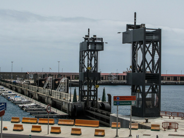 Marina La Palma's gate
